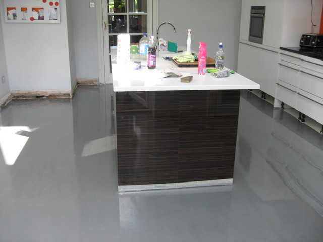 poured resin flooring South Shields South Tyneside - Modern - Kitchen