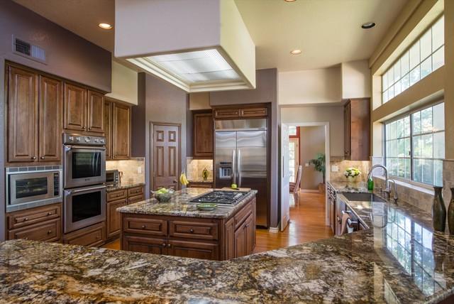 poway california kitchen design fireplace surround