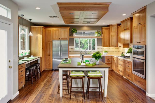 Prairie kitchen contemporary kitchen sacramento by mak design build inc for Prairie style kitchen design