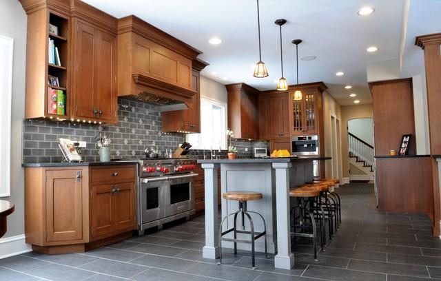 Prairie Perfect Craftsman Kitchen Chicago By Ddk Kitchen Design Group