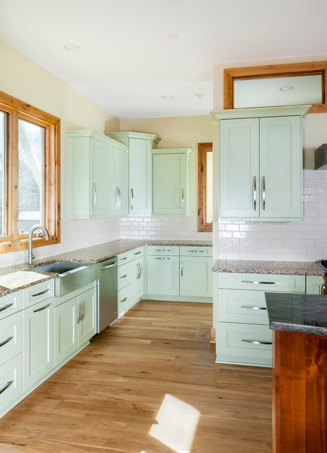 Prairie style contemporary kitchen for Prairie style kitchen