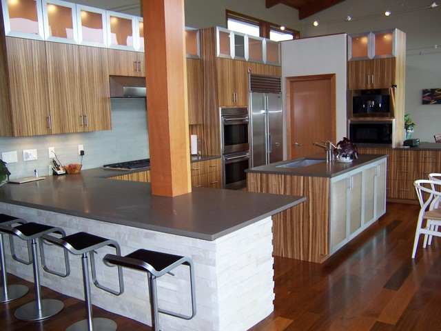 Prairie Style Contemporary Contemporary Kitchen