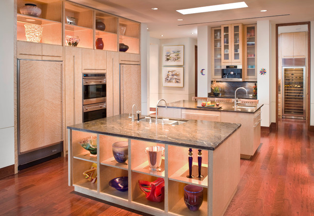 Prairie Style Home Contemporary Kitchen Tampa By