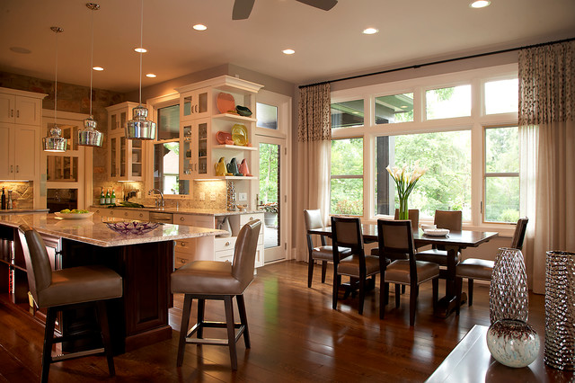 Prairie Style Home Traditional Kitchen Detroit By