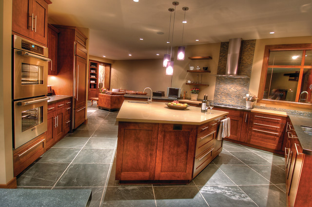 Prairie Style Contemporary Kitchen Calgary By Mitchell Brock