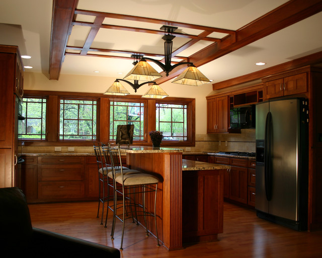 Prairie Style Ranch Remodel Kitchen Craftsman Kitchen Columbus By Rta Studio