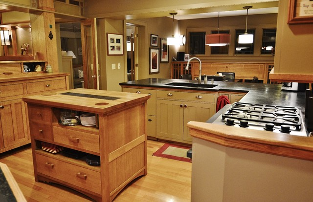 Prairie Style Whole House Remodel Craftsman Kitchen