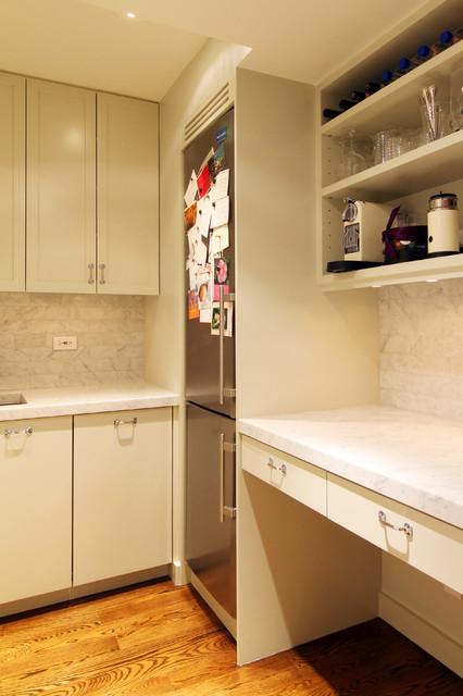 Pre-War Pied a terre modern-kitchen