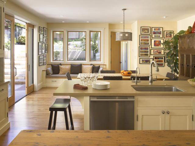 Presidio Heights Pueblo Revival - Kitchen traditional-kitchen