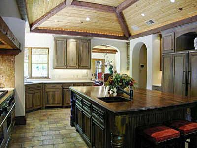 Preston Custom Homes Villa Mediterranean Kitchen Dallas