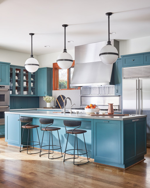 Kitchens With Beautiful Blue Cabinets