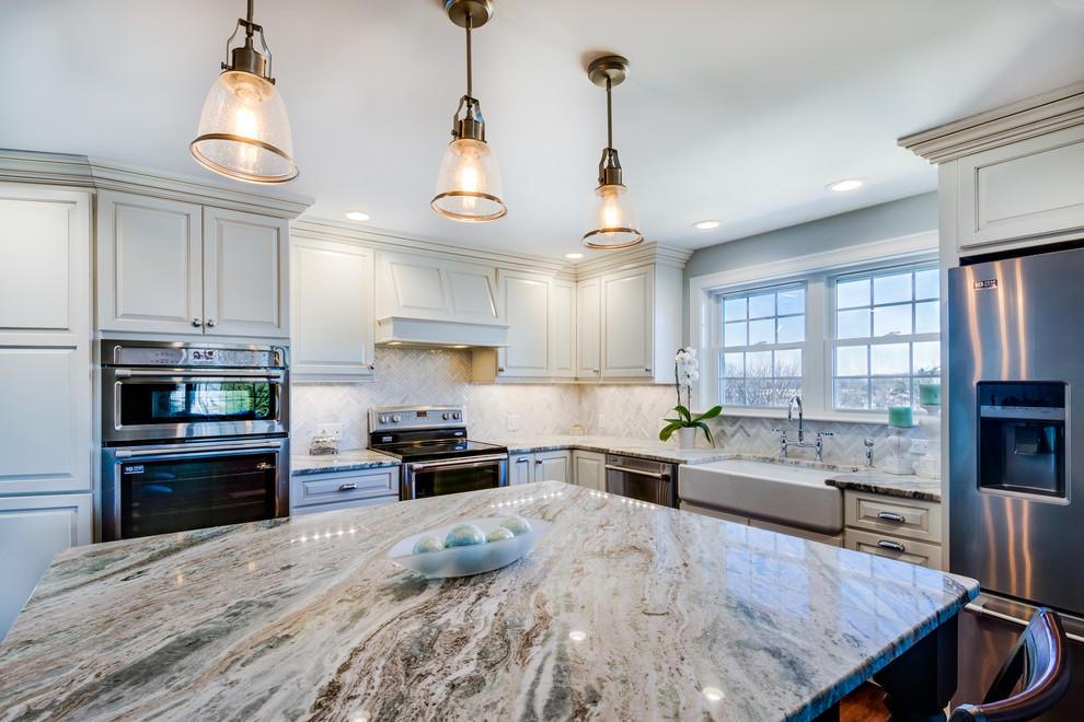 Pretty and Polished Kitchen - Transitional - Kitchen ...