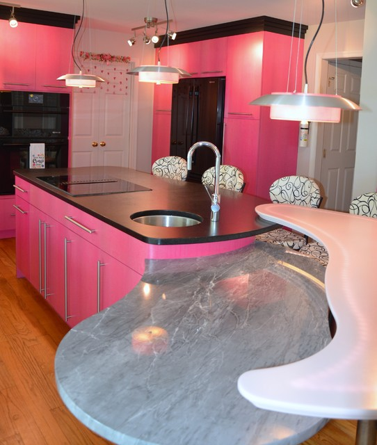 Pretty In Pink Eclectic Kitchen Baltimore By