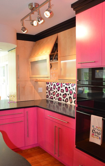 Pretty in Pink eclectic-kitchen