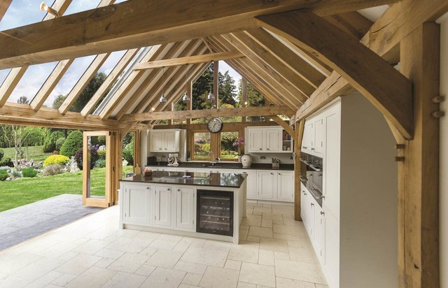 Kitchen Garden Room with Glazed Roof Panel and Bi-folding Doors