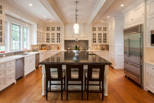 Private Estate Greenwich Ct Traditional Kitchen New York By Granoff Architects