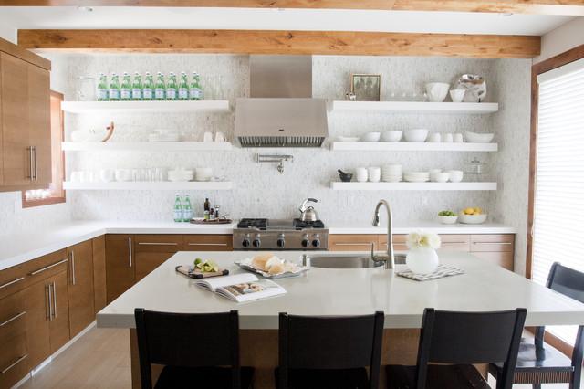 Genial Trendy Kitchen Photo In Salt Lake City With Mosaic Tile Backsplash,  Stainless Steel Appliances,