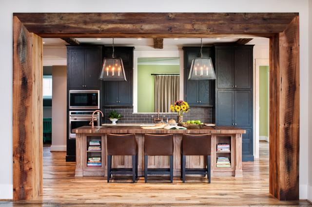 private residence rustikal k che richmond von fraser design. Black Bedroom Furniture Sets. Home Design Ideas