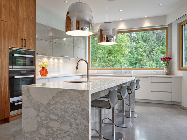 Private Residence Groat Estate Contemporary Kitchen Edmonton By Siebenga Interior