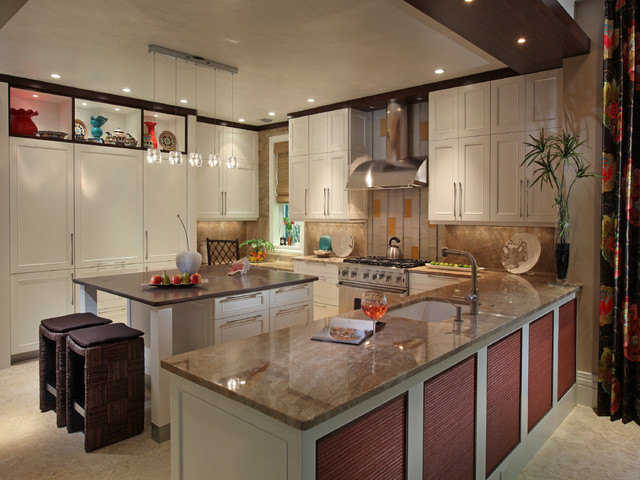 Inspiration For A Contemporary U Shaped Kitchen Remodel In Miami With An  Undermount Sink,. Email Save. Ruffino Cabinetry
