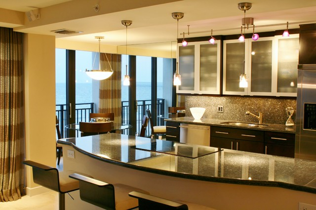 Private residence placide condominium boca raton florida for Modern kitchen design for condo