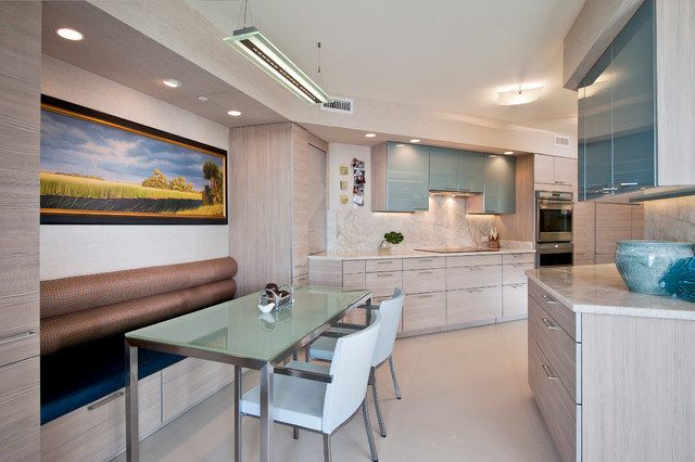 """Private Residence """"R"""" contemporary-kitchen"""