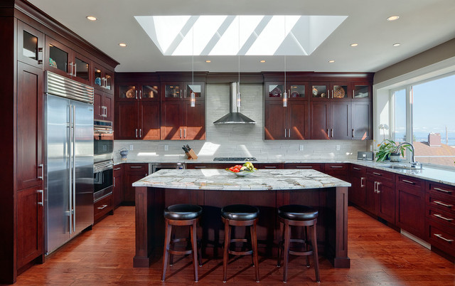 Private residence whiterock bc transitional kitchen for Kitchen design 14x14