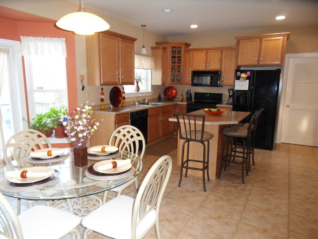 Professionally Staged Rooms traditional-kitchen