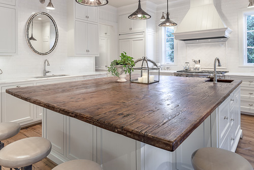 Would This Wood Island Look Good With Soapstone Under Cabinets