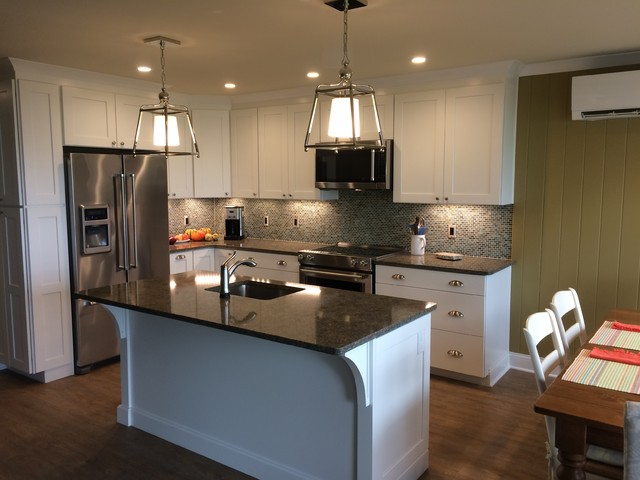 Inspiration for a transitional kitchen remodel in Other