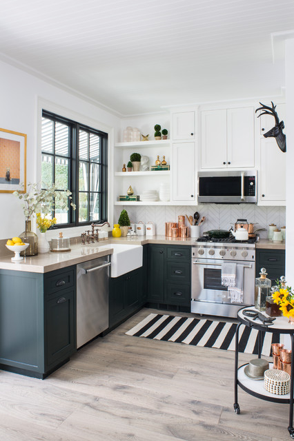 Property Brothers At Home: Drew's Honeymoon House transitional-kitchen