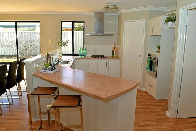 Property Styling To Warnbro Relaxed Hamptons Style Kitchen Perth By Mr Home Staging