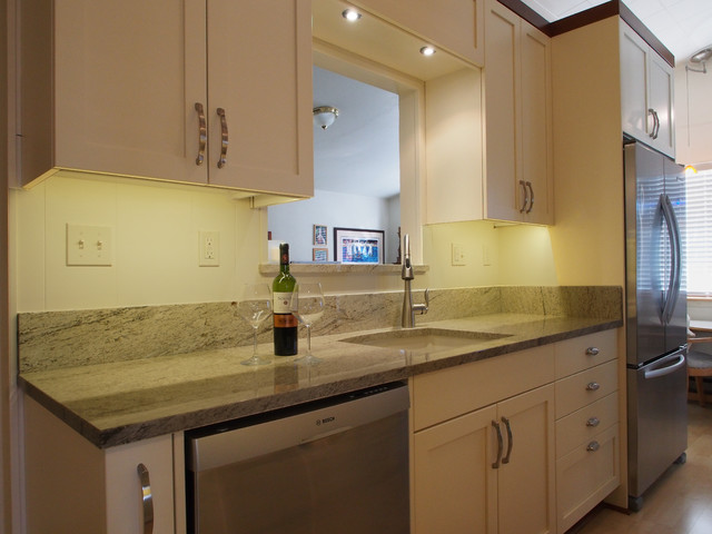 Proud to be a galley kitchen transitional kitchen for Galley kitchen cabinets for sale