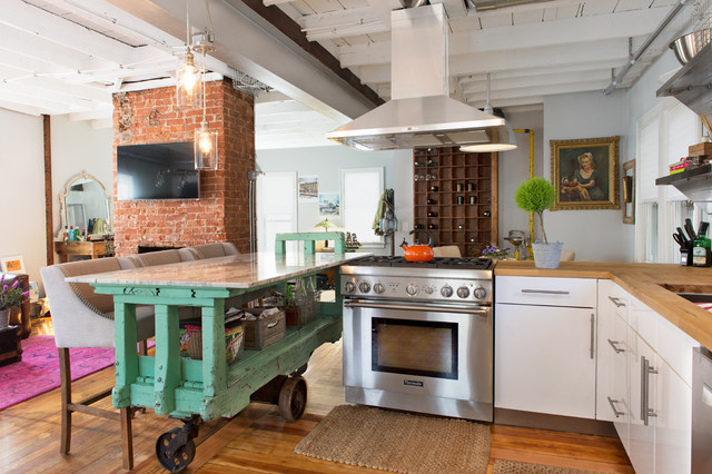 Cute Eclectic Kitchen by Danielle Sykes