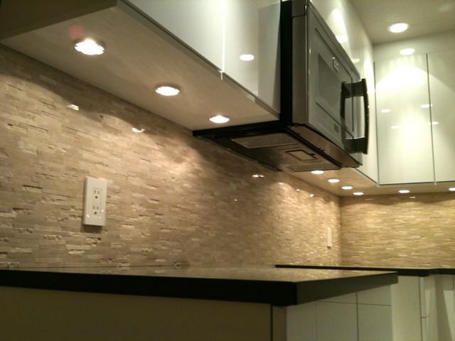 Puck lights, microwave fan - Modern - Kitchen - vancouver ...