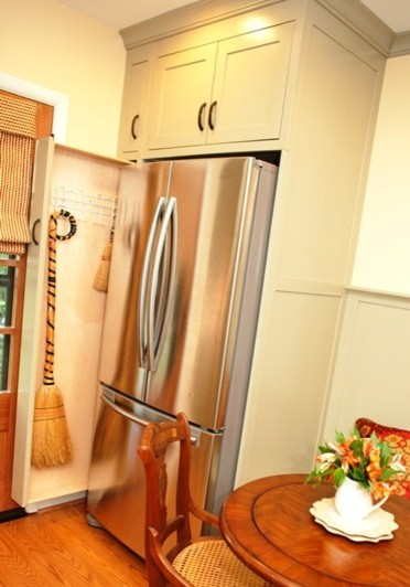 Pull-out Broom Storage in a Kitchen - Kitchen - DC Metro - by Meredith Ericksen