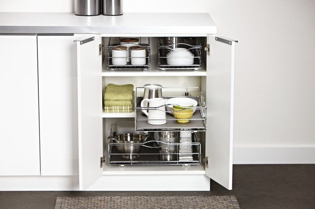 pull-out cabinet organizers - Contemporary - Kitchen - Los Angeles - by simplehuman