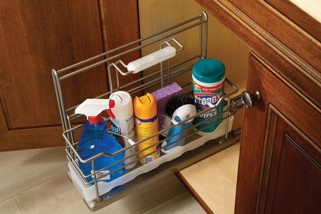 Pull Out Cleaning Supply Storage Kitchen