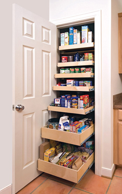 Pull Out Pantry Shelves traditional-kitchen