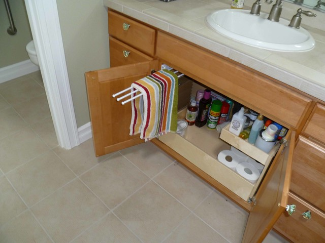 Amazing Pull Out Towel Rack Traditional Kitchen