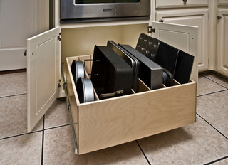 Pull Out Tray Bin Traditional Kitchen Dc Metro By