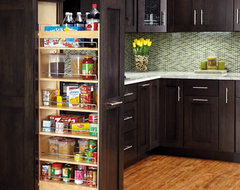 Pullout Wood Pantry traditional-kitchen