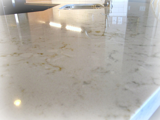 Pulsar Quartz By Silestone Transitional Kitchen