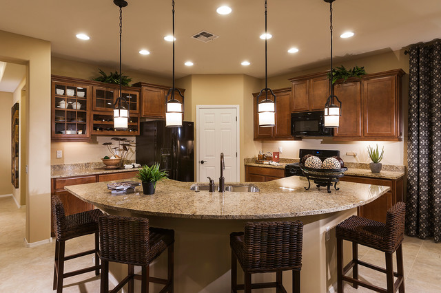 Pulte homes enchantment model home vail arizona for Model kitchen images