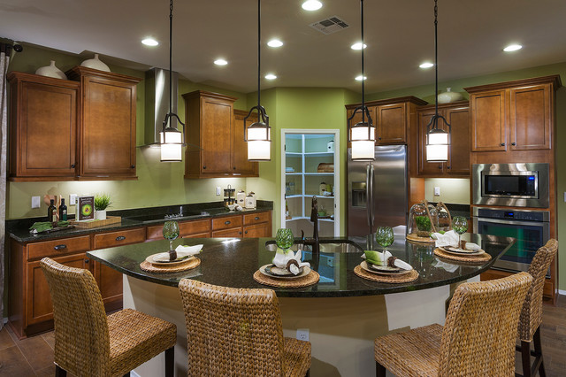 Pulte homes essence model home vail arizona for Model home kitchen decor