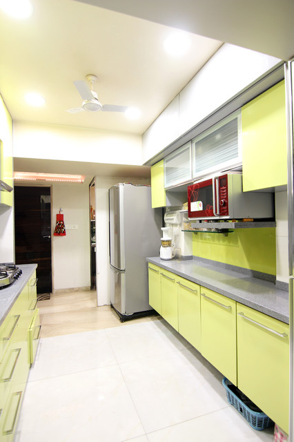 Punjabi Residence Contemporary Kitchen Mumbai By Adi Interiors