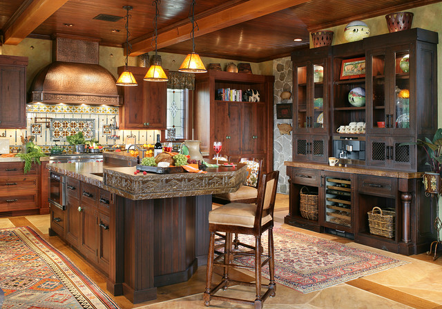 Pure Rustic Mountain House Rustic Kitchen New York By Peter Salerno Inc