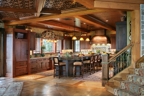 Dream mountain home kitchen pictures from interior for Mountain kitchen designs