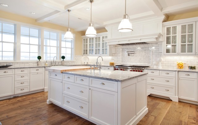 pure white hybrid inset cabinetry traditional kitchen