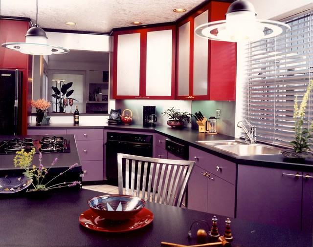 Purple & Red  Artist's Kitchen  Contemporary  Kitchen  portland